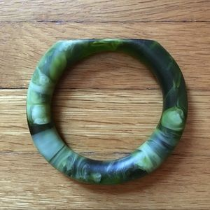 Dinosaur Designs malachite green resin bangle